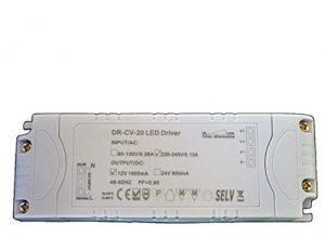 Dimmbarer LED Trafo 12V DC 1-20 Watt Netzteil dimmbar Treiber Transformator für Dimmer G4 MR16 GU5.3