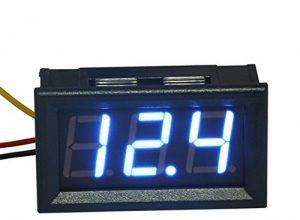 Demarkt DREI Linien DC Voltmeter 0,56 Zoll Digitalvoltmeter DC 0V-30.0V Verpolungsschutz