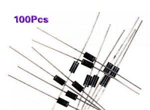 100x IN4007 DO-41 Gleichrichter Diode 1A 1000V