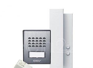 GEV 1-Familienhaus Audio Türsprechanlage CAS 88306, 230 V, Silber Weiss