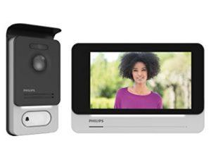 Philips 531002Videotelefon mit Touchscreen, Hohe Bildqualität / Permanente Verbindung, Schwarz, 7-Zoll-Display 18 cm