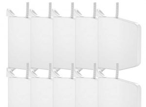 sofort einsatzbereit, Rolladenwickler, Rollladenwickler – Nobily Aufputz Gurtwickler Rolladen ultraweiß inkl. 5m 10er SET Rolladengurt hellgrau 14mm