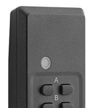 1 Fernbedienung schwarz – Plug & Play – mumbi Fernbedienung für mumbi 4-Kanal Outdoor Funksteckdosen der Serie AFS202