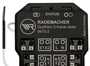 Rademacher 9470-2 DuoFern Universal-Aktor, 2-Kanal Unterputz-Funkaktor für Licht und elektrische Verbraucher