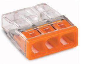 Verbindungsdosenklemme, 3-Leiter-Klemme, Compact Wago 2273-203, Menge wählbar 50 Stück