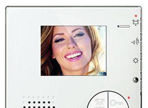 Legrand, Classe 100 V12B Video-Innenstelle im hochwertigen Weißglas-Effekt mit 3,5″ LED-Monitor, 344502