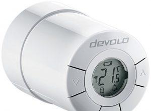 devolo Home Control Heizkörperthermostat Funk Heizungssteuerung, Smarthome Thermostat, Z-Wave Hausautomation, Haussteuerung per iOS/Android App, Smart Home Aktor, einfache Installation weiß