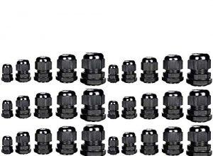 Drüsen Kunststoff Einstellbare Wasserdichte Kabel 3,5-13mm Kabelverschraubungen Gelenke Drahtschützer PG7, PG9, PG11, PG13.5, PG16, Pack von 40