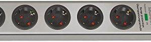 10er Set: Brennenstuhl Super-Solid Überspannungsschutz-Steckdosenleiste 5-fach silber mit Schalter, 1153340315