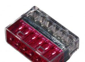ViD Verbindungsklemme/Steckklemme 6-Leiter rot 50 Stück 1,0-2,5 mm² 6-Pol c200 6250