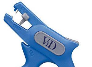 ViD Abisolierzange No. 5 0,2-6,0mm² blau/grau | Abisolierer selbsteinstellend 0,2-6 mm 24-10 AWG | Abisolierwerkzeug mit Seitenschneider bis 2 mm | Abisolieren von Rundkabeln | 100% Made in Germany