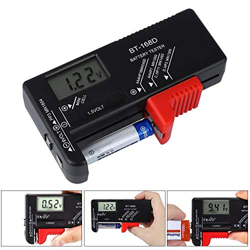 Batterietester,Nomisty Digitaler Batterie tester Universal Batterieprüfer Volt Prüfgerät für 1,5V und 9V Batterie AA AAA C D 9V 1.5V Knopf Knopfzellen … Batterietester