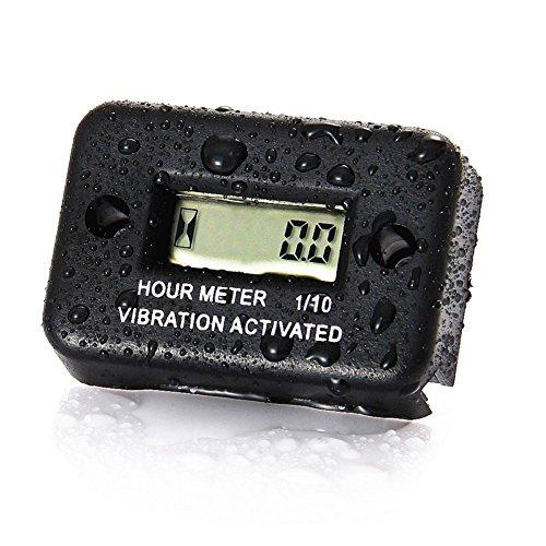 KKmoon Zeitmesser Auto Vibration Betriebsstundenzähler für Motorrad ATV Schneemobil Boot Wasserdicht