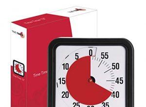 Time-Timer Medium 18cm, Uhr für Zeitverwaltung, Zeitmanagement geeignet für Büro, Klassenzimmer, zu Hause, Kinder mit Kinder mit ADHS, ADD, Autismus, Asperger-Syndrom inkl. 1x Haftnotiz-Zettel