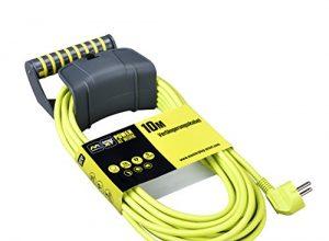 Masterplug EXG10161/CHT-PX Schutzkontakt-Verlängerungskabel mit Wandhalterung, 3680 W, 250 V, Grün, 10 m