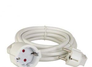 uniTEC 44544 Schuko-Verlängerung H05VV-F 3G 1, 5 mm², 10 m, weiß