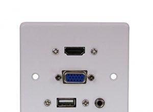 Wandanschlussplatte VGA/HDMI/USB/3.5mm Stereo