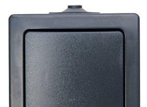 Kopp Nautic Universalschalter Aus-und Wechselschalter, Aufputz, Lichtschalter für Feuchtraum, 250V 10A, IP44, anthrazit, 565615002