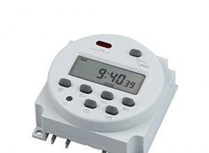 Zeitschaltuhr DC/AC 12V 16A LCD Digital-Display Programmierbar Timer OVP DE