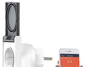Luminea Home Control WLAN Steckdose außen: Outdoor-WLAN-Steckdose, komp. zu Amazon Alexa & Google Assistant, 16 A WLAN Steckdose Außenbereich