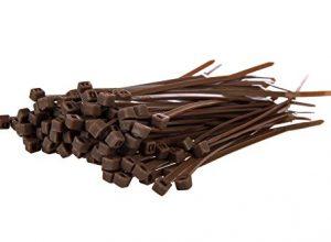 Gocabilities 100Stück farbige Premium-Kabelbinder, 140mm x 3,6mm, qualitativ hochwertiges Nylon, braun