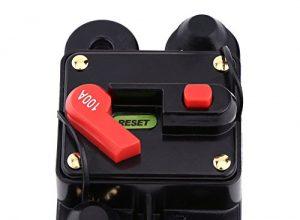 Walfront 12V-24V 80-300A DC Automatische Sicherung Schalter Leistungsschalter Reset Sicherung Auto Marine Boat Bike Stereo Audio100A