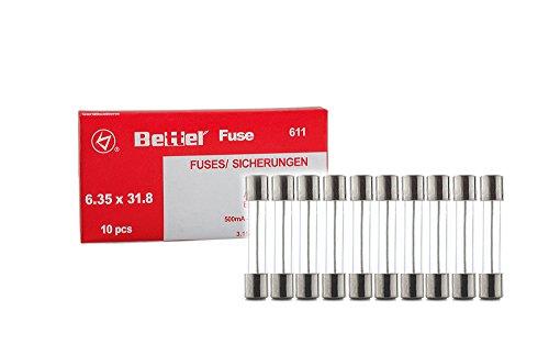 10er Päckchen Sicherungen 15A flink 6,3x32mm