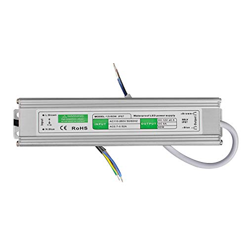 LED Transformator 60W/5A Trafo. Netzteil Adapter Driver für Stripe 230V auf DC 12V