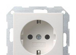 10er Set Steckdose – GIRA System 55 reinweiß glänzend