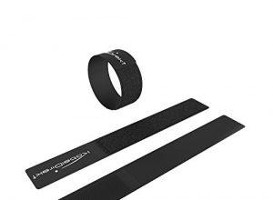 wiederverwendbar, 16 STK, schwarz – KabelDirekt – 2cm x 16cm – Klett Kabelbinder Band