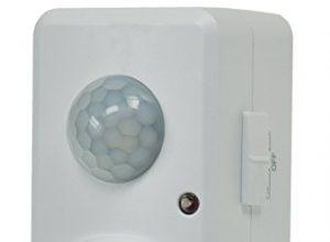 Zwischenstecker Steckdose mit Bewegungsmelder 120° 9m Reichweite 230V 1200W LED geeignet Weiß