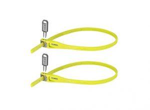 Hiplok Z-Lok Stahlkern Kabelbinder-Schloss 2er pack , gelb lime, Einheitsgröße