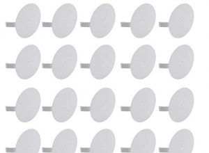 Meister Federdeckel weiß – Für einen bündigen Abschluss mit der Wand/Dosendeckel für Gerätedeosen/Spreizdeckel zum Einhaken/Klemmdeckel / 7460310 – 25 Stück – Geeignet für Ø 70 mm Abzweigdosen