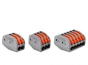 50er Set Wago Verbindungsklemmen 20x 2 Leiter 20x 3 Leiter 10x 5 Leiter mit Betätigungshebel 0,08-4 mm², grau