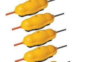 5er Pack Brennenstuhl Safe-Box Schutzkapsel für Kabel BIG IP44 outdoor gelb, 1160440 5, Safebox BIG