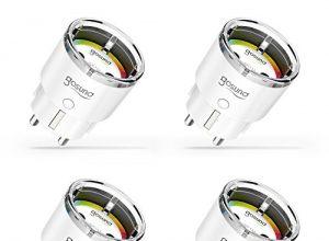 Smart WLAN Steckdose, Gosund kleinste Alexa Steckdose SP111 Kein Hub erforderlich, Stromverbrauch messen Timer Funktion Fernsteurung Smart Home, Kompatibel mit AlexaEcho und Echo Dot 4er Pack