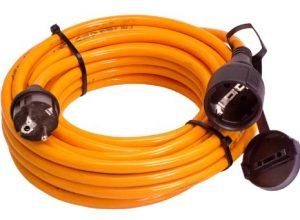 as – Schwabe 59205 Baustellen-Verlängerungskabel, 5m H07BQ-F 3G2,5, orange, IP44 Gewerbe, Baustelle