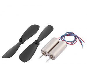 sourcingmap® RC Spielzeug 2-Blades Propeller + Glockenankermotor Motor DC 3.7 V 40000 U/MIN 2 Sätze