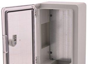 BOXEXPERT ABS Kunststoff Gehäuse Fleet Schaltschrank IP66 grau/transparent ABS, 300x200x130 mit Sichttür