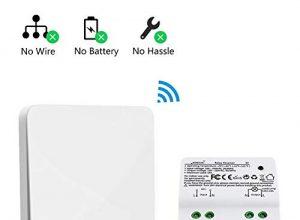 Funk-Wandsender Funkschalter Licht Funk Schalter Lichtschalter Funkschalter Set Batterielose Wandschalter Aussen Wasserdicht IP67 Kabellos kinetische Schalter Empfänger für Lampe Eletrogerät