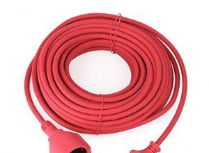 Verlängerungskabel Schuko Verlängerung Gummi Kabel für den Außenbereich IP44 H05RR-F 3G 1,5mm 20M, Rot