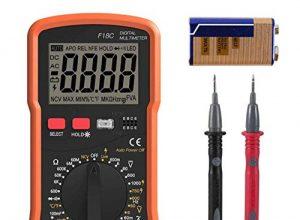 Digital Multimeter, 6000 Zählt Auto Range AC DC Spannungsprüfer, Amperemeter, Widerstand, Temperaturmessung, Außenleiter-Identifizierung, Durchgangsprüfung, Hintergrundbeleuchtung