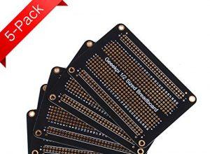 GeeekPi Proto Steckplatine PCB Board vergoldete experimentelle Steckplatine, Lötplatine doppelseitig, PCB DIY Kit für Arduino