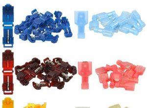 10x rot – 10x gelb – Set: 30 T-Abzweigverbinder + 30 Flachstecker je 10x blau