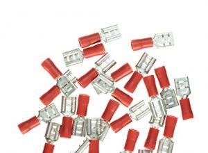 Haupa BLV260392 Flachsteckhülse isoliert 0,5-1,5mm² 6,3×0,8mm rot 25 Stück