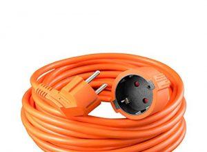 Kindersicherung, max. 3680W – H05VV-F 3G 1,5² – benon Verlängerungskabel Schuko, 20m Orange