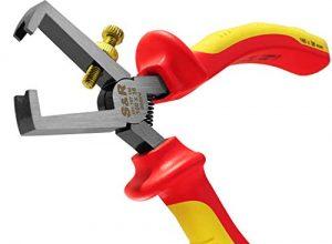 S&R VDE Abisolierzange 160mm, Modifiziert 1000V VDE-geprüft, aus 60CrV Stahl, HRC 58-65, phosphatiert | Abisolierwerkzeug Abisolierzangen VDE | Elektrikerwerkzeug vde