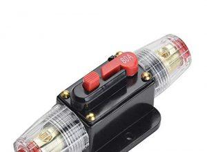 Qiorange 80A 80AMP Automatiksicherungshalter Sicherungshalter Halterung Automat 12V-24V DC Fuse Holder 80A Type A