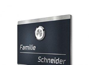 LED-Klingeltaster – Unterputz-Montage – ver. Größen – Edelstahl Türklingel – Anthrazit – Beschriftung/Gravur