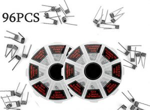 96 Stück vorkompilierte Coil Kit Vorkompilierte 8 in 1 selbstwickler Widerstandsdraht mit 0.3Ω / 0.35Ω/ 0.45Ω / 0.5Ω / 0.8Ω für RDA, RBA, RDTA,Fused Clapton Coil, Twisted, Hive, Quad, Tiger